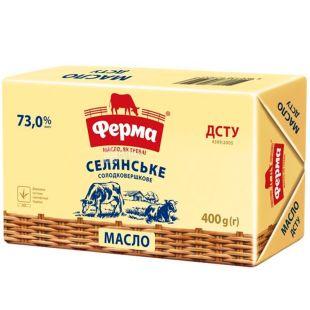 Ферма, Селянское, 400 г, Масло сливочное, 73%