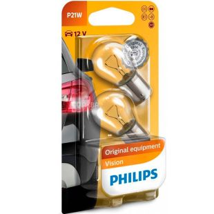 Philips, 2 шт. 21 Вт, Лампа накаливания, Vision, 12V