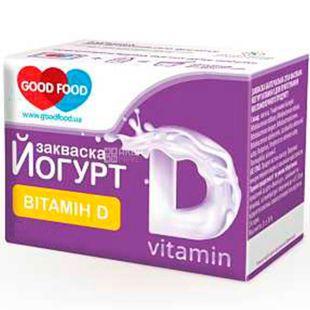 GoodFood, 2 шт. х 1 г, ГудФуд, Закваска бактеріальна, Йогурт з вітаміном D