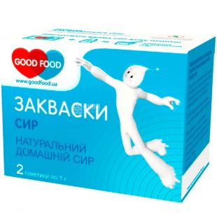 GoodFood, 2 шт. х 1 г, ГудФуд, Закваска бактеріальна, Сир кисломолочний