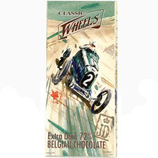 Belgian Chocolate, 100 г, Белджин, Шоколад екстрачорний Classic Wheels, 72%