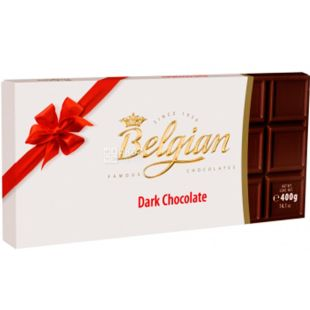 Belgian Chocolate, 400 г, Белджин, Шоколад чорний, 50%, ХL