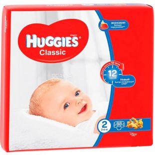 Huggies Classic 2, 88 шт., 3-6 кг, Подгузники