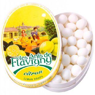 Anis de Flavigny, 50 g, Anise de Flavigny, Dragee lemon