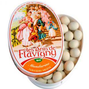 Anis de Flavigny, 50 g, Anise de Flavigny, Organic Mandarin Dragee