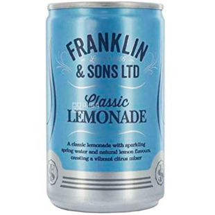 Franklin & Sons.  Original Lemonade, 150 ml, Franklin & Sons, Carbonated Lemonade Drink Original