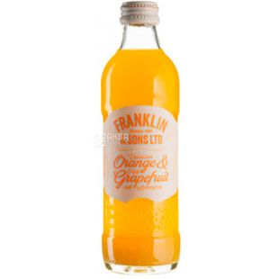 Franklin & Sons, 275 ml, Franklin & Sons, Carbonated Orange and Grapefruit Drink