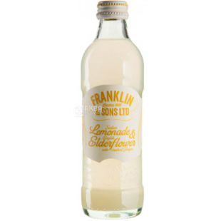 Franklin & Sons, 275 ml, Franklin & Sons, Soft drink Lemonade and Elderberry.