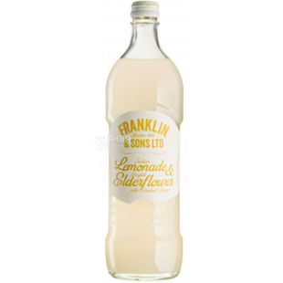 Franklin & Sons, 750 ml, Franklin & Sons, Carbonated Lemonade and Elderberry drink