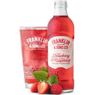 Franklin & Sons, 275 ml, Franklin & Sons, Drink carbonated Strawberry and Raspberry