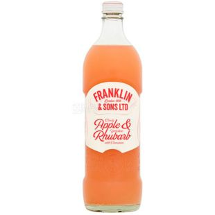 Franklin & Sons, 750 ml, Franklin & Sons, Carbonated Drink Apple and Rhubarb