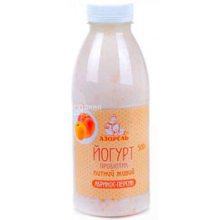 Azorel, 0.5 L, Probiotic Yogurt, Apricot Peach, 4%