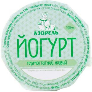 Azorel, 0.100 L, Yogurt, 4%