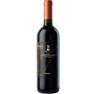 Castelnuovo, Merlot, Вино червоне сухе, 0,75 л