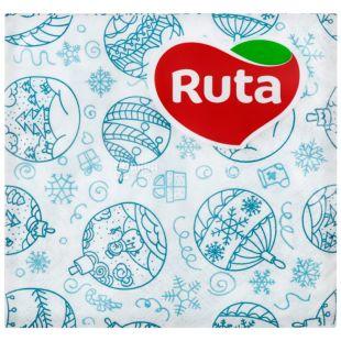 Ruta, 40 шт., Рута, Серветки паперові, Новорічна мозаїка, 24х24 см