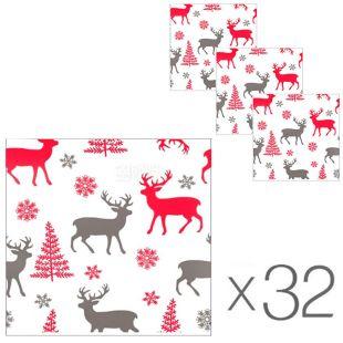 Ruta, 32 упаковки по 40 шт., Рута Серветки паперові Лісовій гість, 24х24