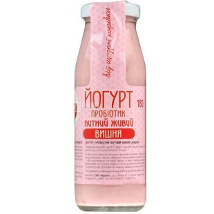 Azorel, 0.18 L, Yogurt, Probiotic Drinking Alive, Cherry