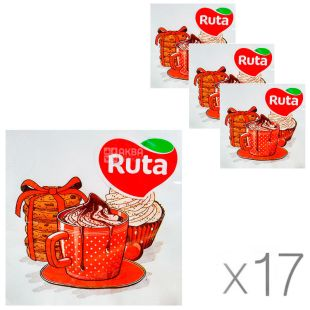 Ruta, 20 l, Packing 17 pcs, Ruta Paper napkins Festive coffee, 33x33 cm