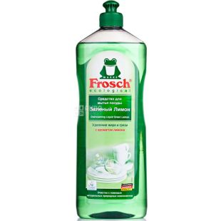 Frosch, 1 L, Dishwashing liquid, Lemon green