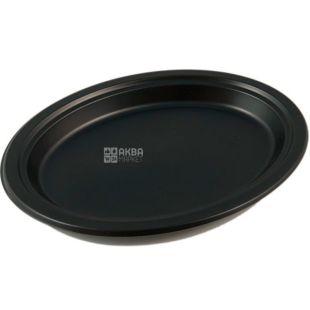 LUX, Тарелка пластиковая, десертная, премиум, черная, 176 мм, упаковка 50 шт.