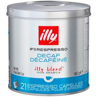 illy, Iperespresso Decaf, 21 x 6,7 г, Кофе Илли, Иперэспрессо, без кофеина, в капсулах, ж/б