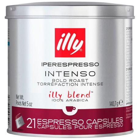 illy, Iperеspresso, Intenso, 21 x 6,7 г, Кава Іллі, Іпереспресо, Інтенсо, в капсулах, ж/б