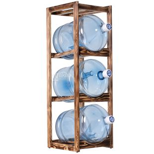 ViO, Stand wooden for 3 bottles, WS-3, ZEBRANO