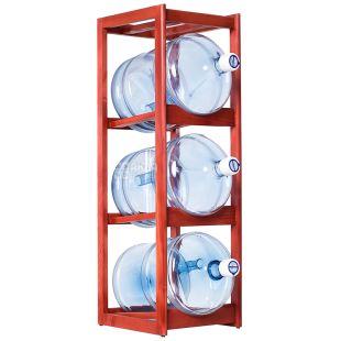 ViO, Shelf rack wooden under 3 bottles of water, WS-3 CHERRY