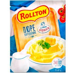 Роллтон, 40 г, Пюре картофельное со сливками, быстрого приготовления