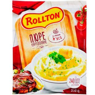 Роллтон, 40 г, Пюре картофельное со вкусом мяса, быстрого приготовления