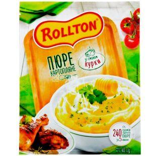 Роллтон, 40 г, Пюре картофельное со вкусом курицы, быстрого приготовления