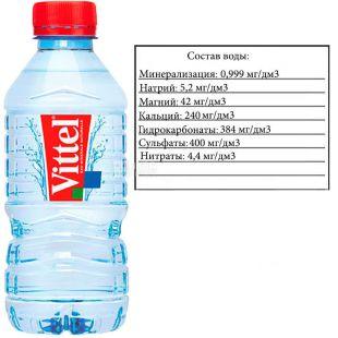 Vittel, 0,33 л, Віттель, Вода мінеральна негазована, ПЕТ