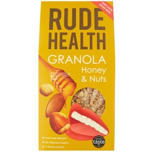Rude Health Foods, 500 г, Руд Хелс Фудс, Гранола с медом и орехами