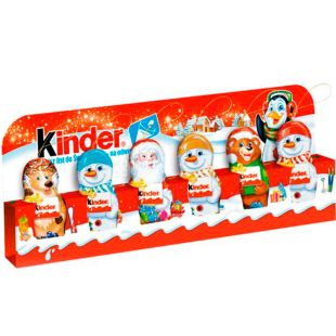 Kinder, 6х15 г, Киндер, Шоколад фигурный, молочный