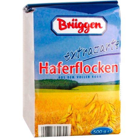 Bruggen, 500 г, Хлопья Брюгген, овсяные, из цельного зерна