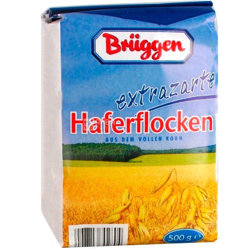 Bruggen, 500 г, Пластівці Брюгген, вівсяні, з цільного зерна