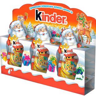Kinder, 3х15 г, Киндер, Новогодний набор, Шоколад фигурный, Дед Мороз