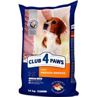 Клуб 4 Лапы, Корм сухой для собак средних пород, 14 кг