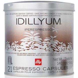 Illy, IperEspresso Idyllium, 21 шт., Кофе Илли средней обжарки, с низким содержанием кофеина, в капсулах