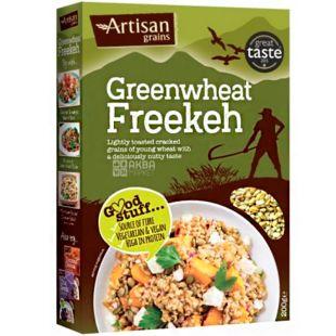 Artisan, Greenwheat Freekeh, 200 г, Артисан, Крупа из молодой обжаренной пшеницы