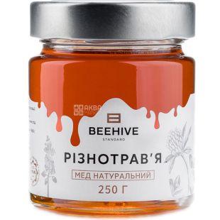 Beehive, 250 г, Бихайв, Мед натуральный, с разнотравья