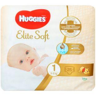 Huggies Elite Soft 1 Covn, 25 шт., 3-5 кг, Подгузники