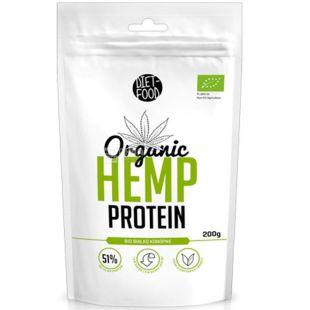 Diet-Food, Hemp protein, Конопляний протеїн, органічний, 200 г