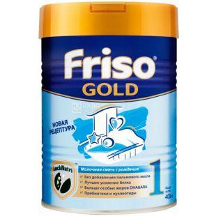 Friso Gold 1, 800 г, Фрисо Голд 1, Смесь сухая молочная, с рождения и до 6-ти месяцев