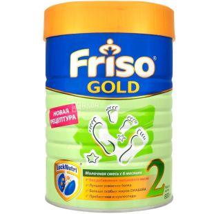 Friso Gold 2, 800 г, Фрисо Голд 2, Смесь сухая молочная, с 6-ти до 12-ти месяцев