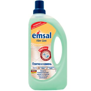 Emsal, 1 л, Эмсал, Средство для очищения камня и кафеля, с защитой от пятен