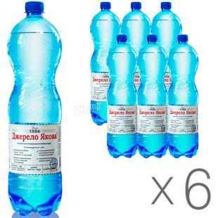 Джерело Якова, 1,5 л, упаковка 6 шт., Вода минеральная слабогазированная, ПЭТ