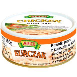 Agrico, Filet kurchaka, Куряче філе в пікантному соусі, спортивне харчування, 160 г