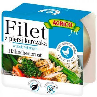 Agrico, Filet kurchaka, Куряче філе у власному соку, спортивне харчування, 160 г