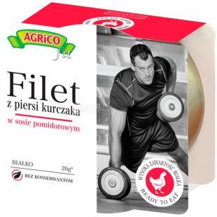 Agrico, Filet kurchaka, Куряче філе в томатному соусі, спортивне харчування, 160 г